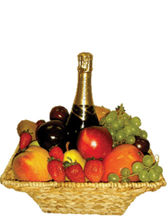 Fruit and Alchohol Basket