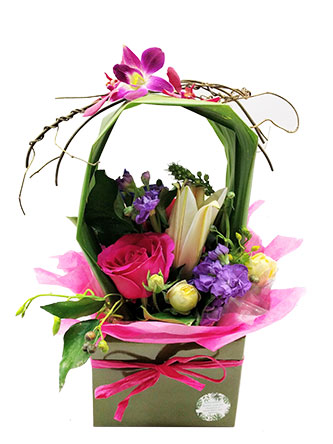 Colourful and bright flower arrangement