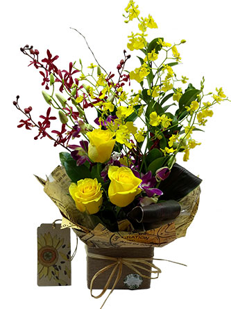 colour of world flower arrangement